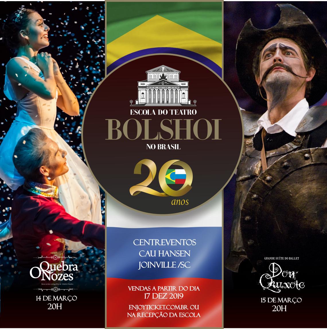 Conheça a programação dos 20 anos do Bolshoi no Brasil