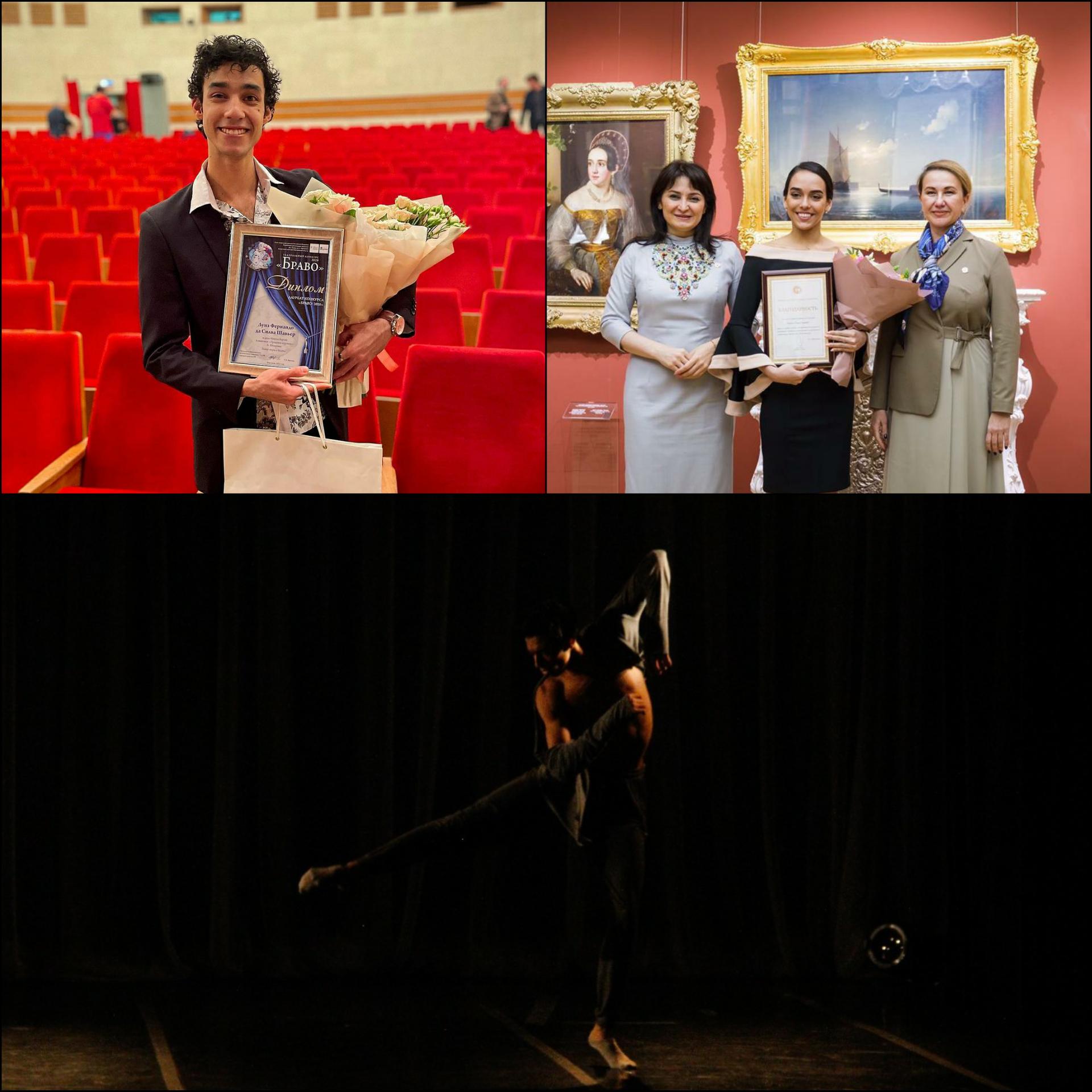 Bailarinos formados no Bolshoi Brasil são premiados